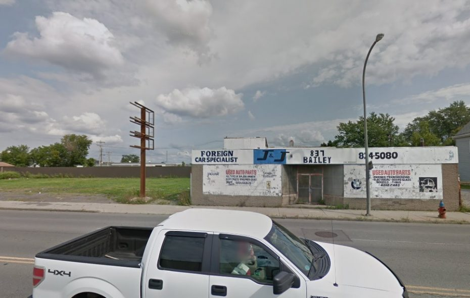 This auto parts and repair store is slated for demolition, to make way for a brownfield cleanup and new project. (Google)