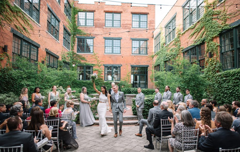 Anita and Brian only looked at one venue for their wedding—the Foundry. (Colin Gordon)