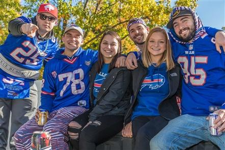 Smiles at Bills-Bears tailgate at New Era Field