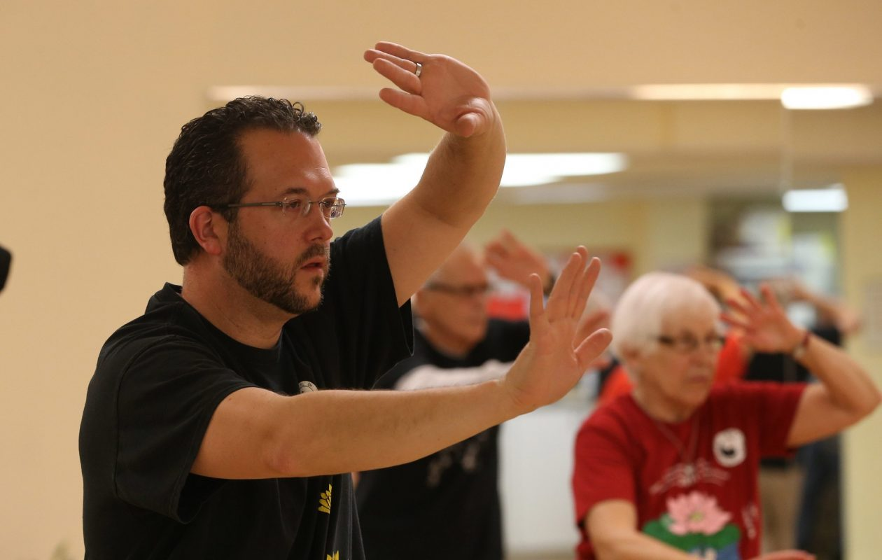 "Brendan Fallon, a tai chi instructor with the Taoist Tai Chi Society of Buffalo, describes tai chi as ""moving yoga."" The society will host an open house next weekend. (Sharon Cantillon/News file photo)"