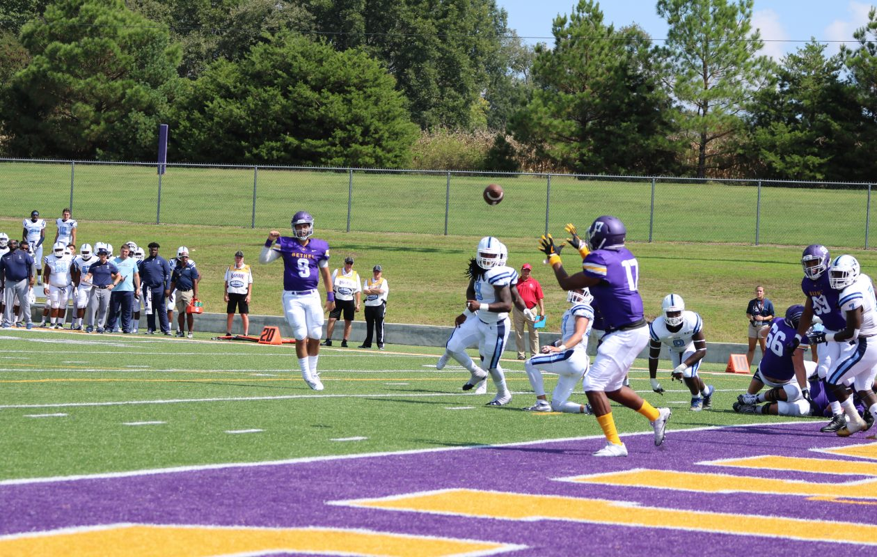Former Williamsville South and Erie Community College quarterback Sam Castronova has led NAIA Bethel University to a 10-0 start and a No. 3 national ranking. (Photo courtesy of Bethel Athletics)