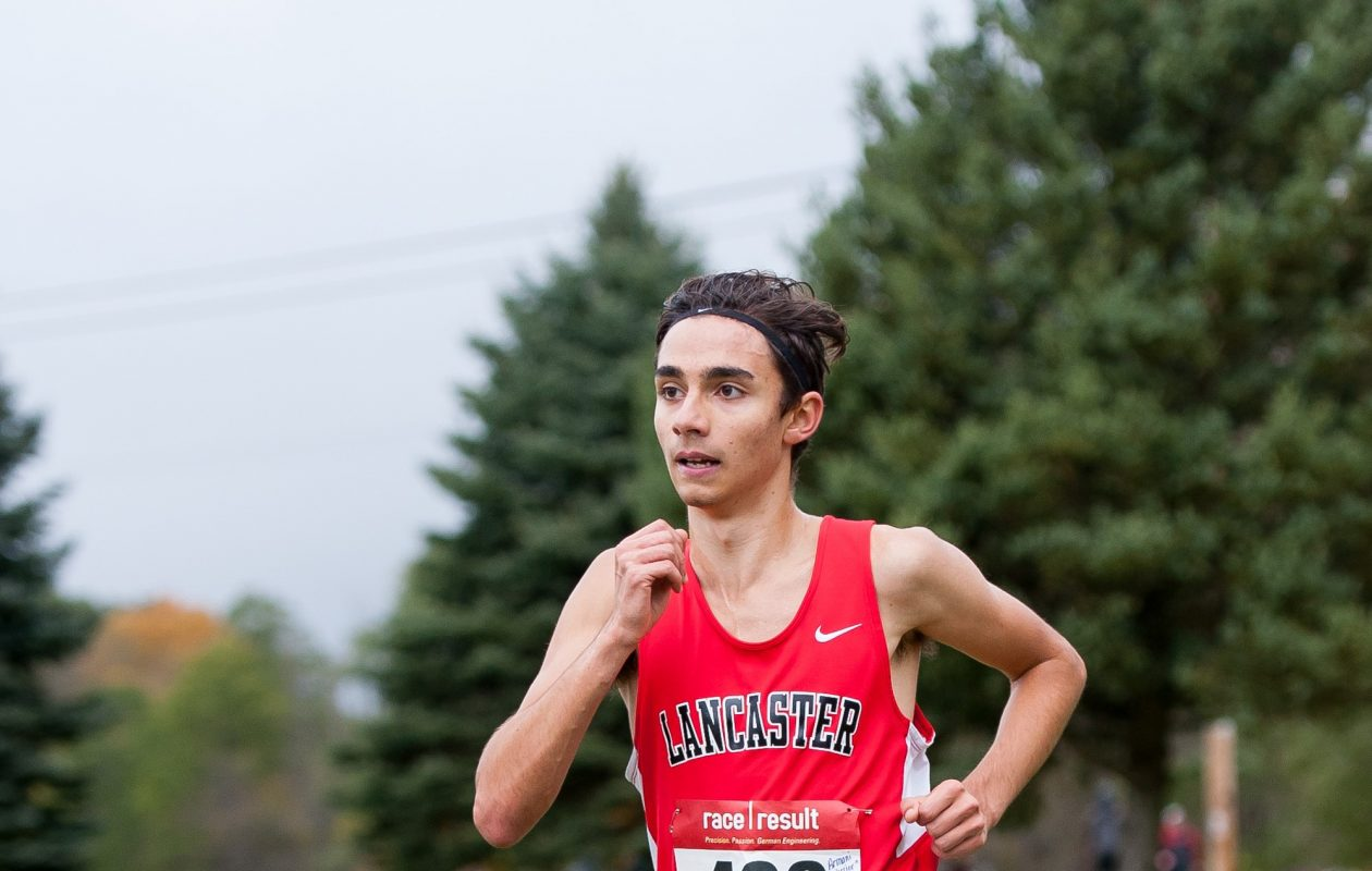 Section VI Class A first-place runner Armani Merlino from Lancaster. (Valerie Isaacson/Special to The News)