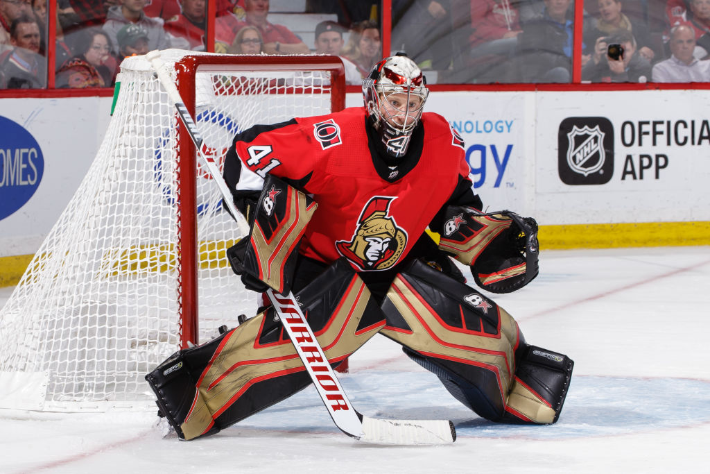Ottawa's Craig Anderson is 15-8-2 in his career against the Sabres with a 2.35 goals-against average and .926 save percentage (Getty Images).