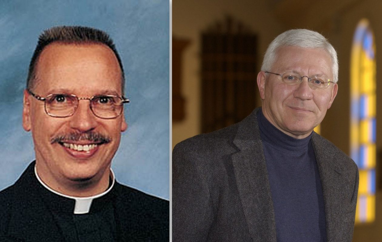 The Rev. Ronald P. Sajdak, left, and Monsignor Frederick D. Leising were placed on leave by the Buffalo Diocese. (News file photos)