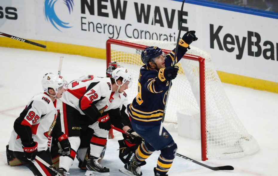 Sabres winger Jason Pominville has 10 goals this season. (Harry Scull Jr./Buffalo News)