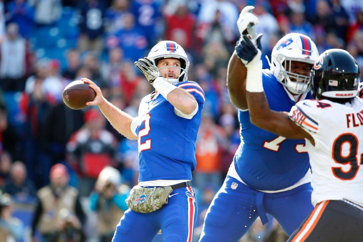 ae7a8cb5a55 Buffalo Bills quarterback Nathan Peterman faces the Chicago Bears. (Harry  Scull Jr.