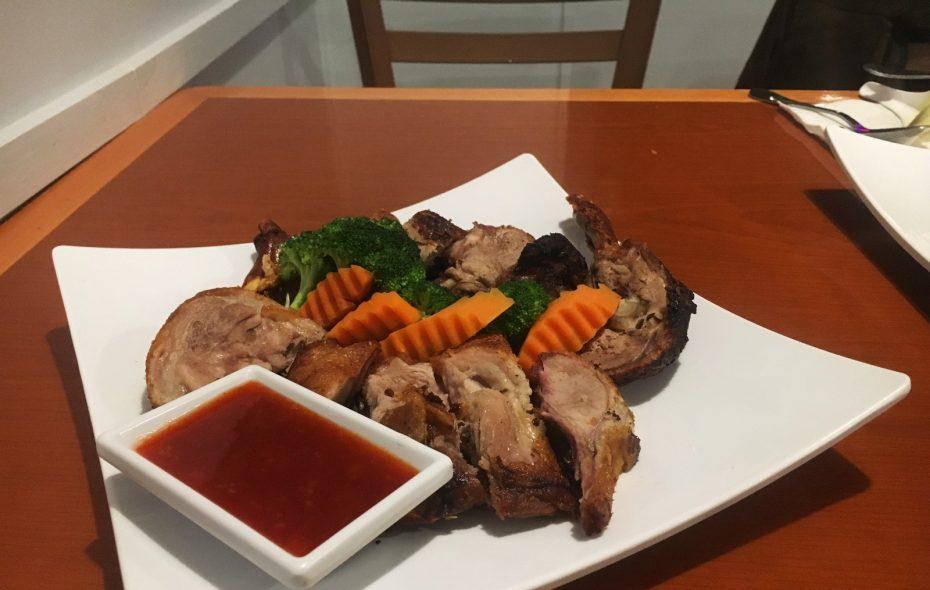 The duck from Street Asian Food on Elmwood Avenue. (Caitlin Dewey/Buffalo News)