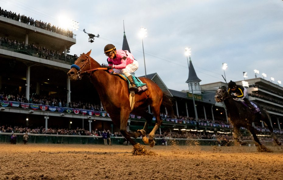 November 2, 2018: Game Winner #9, ridden by Joel Rosario, wins the Sentient Jet Juvenile on Breeders' Cup World Championship Friday at Churchill Downs on November 2, 2018 in Louisville, Kentucky. Photo Credit: Alex Evers/Eclipse Sportswire/CSM