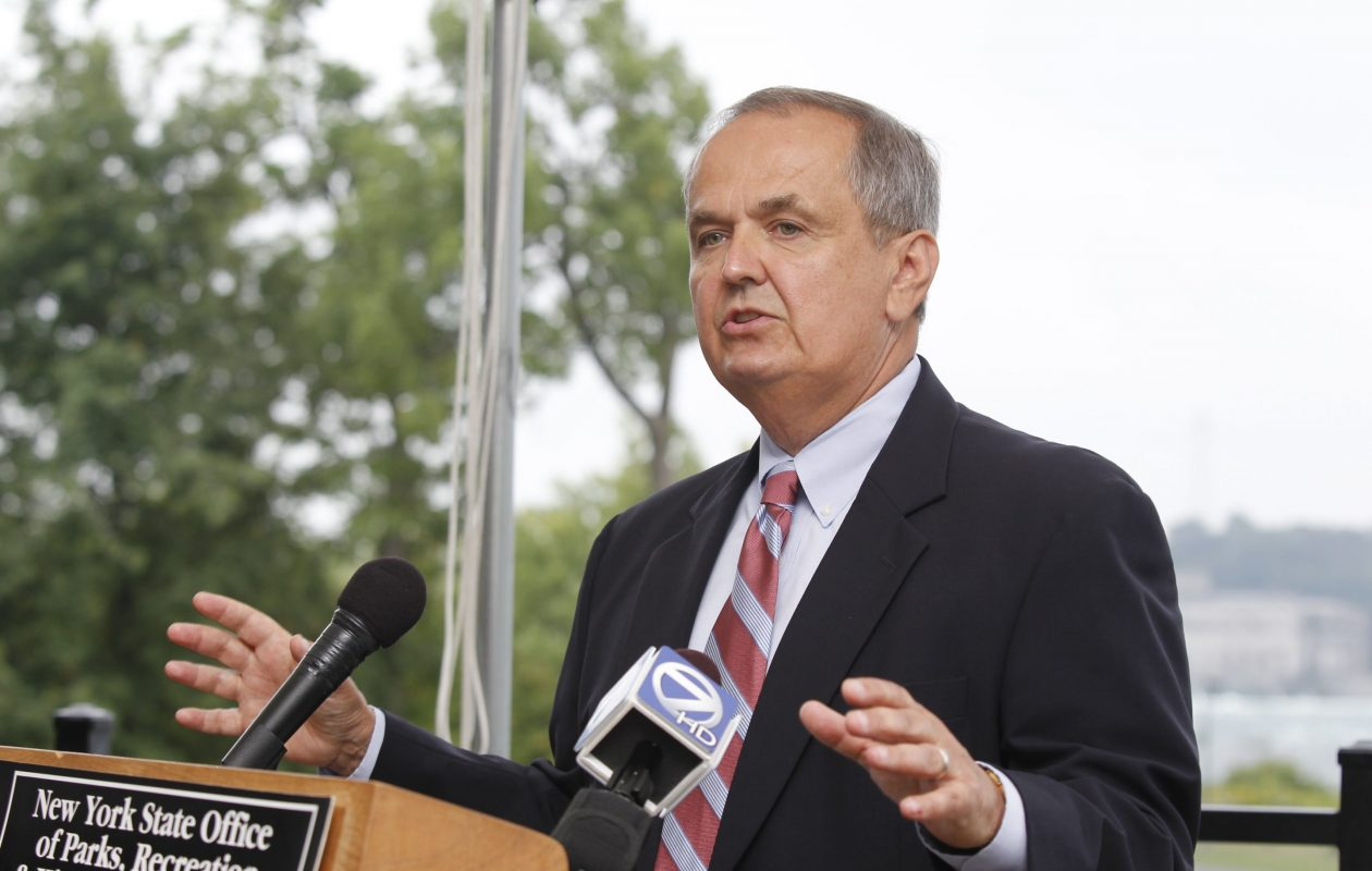 Former State Sen. George Maziarz accused former members of his office and campaign staff of stealing $350,000 from his campaign. Erie County District Attorney John J. Flynn said Thursday, Nov. 1, 2018, that he will not bring charges against anyone in connection with Maziarz's accusation. (Harry Scull Jr./Buffalo News file photo)