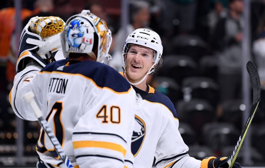 Defenseman Jake McCabe played 59 games with the Buffalo Sabres last season. (Getty Images)