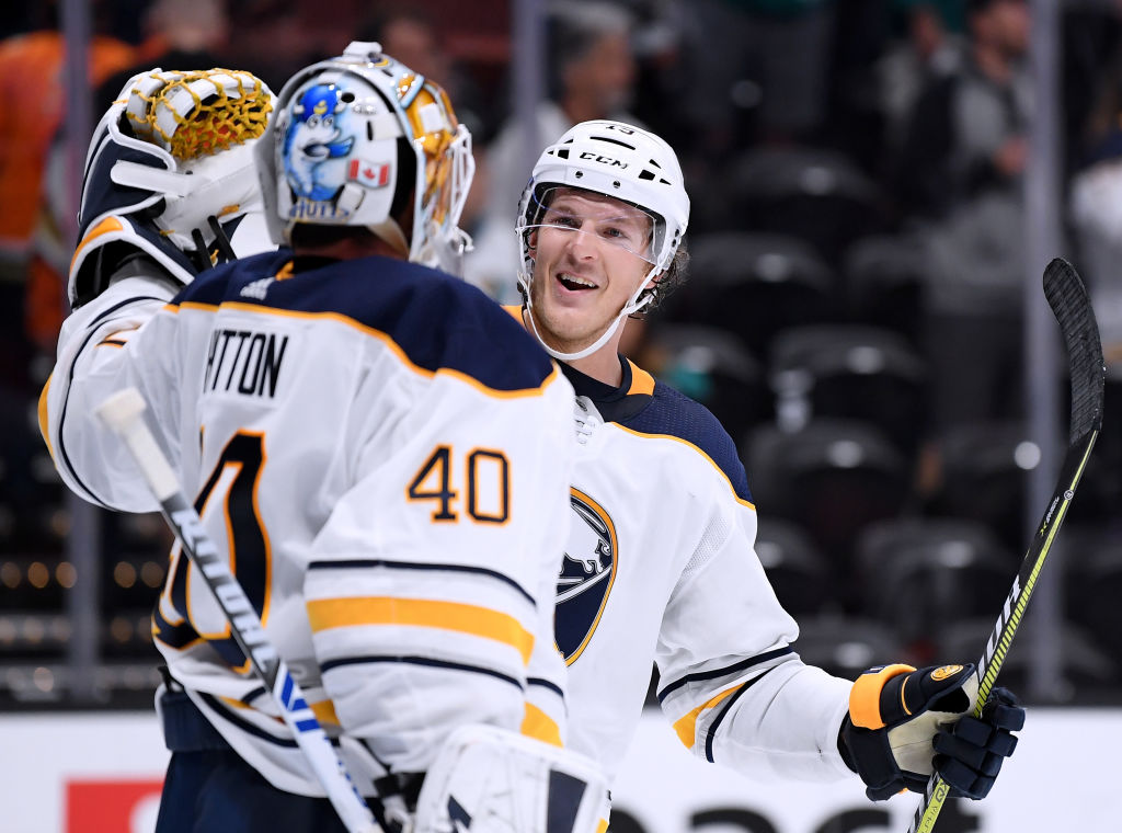 Sabres defenseman Jake McCabe has blocked a team-high 42 shots this season.  (Harry How/Getty Images)