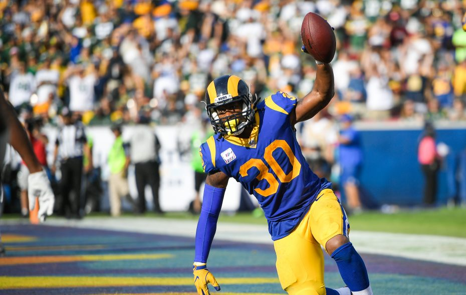 Rams running back Todd Gurley was an early candidate for MVP, but has been slowed by a knee injury. (Getty Images)