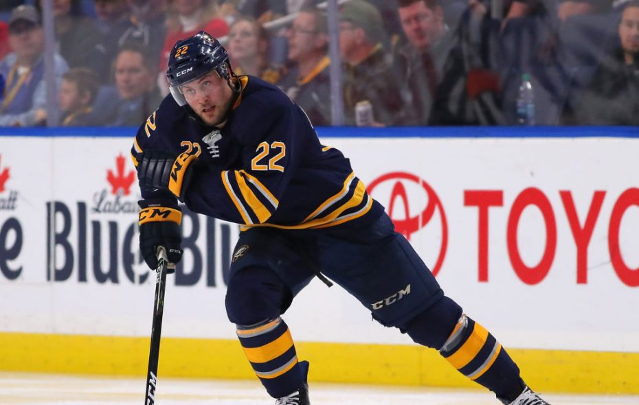 """""""Everyone is on the same page out there.,"""" said Sabres forward Johan Larsson. (Getty Images)"""