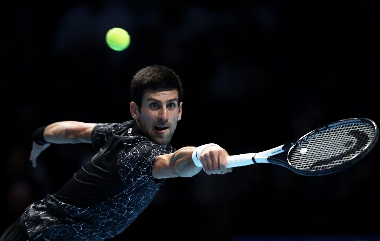A line of tennis racquets endorsed by Novak Djokovic. is a hot seller  (ulian Finney/Getty Images)