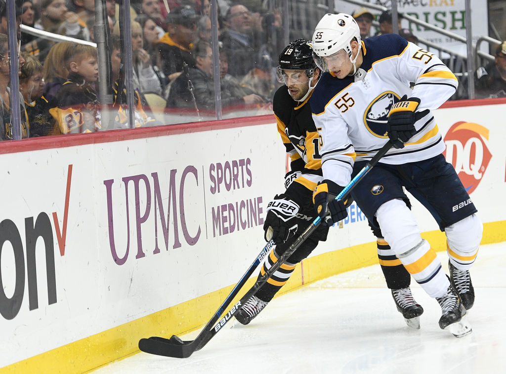 Rasmus Ristolainen is one of seven Sabres defensemen to score this season. (Justin Berl/Getty Images)