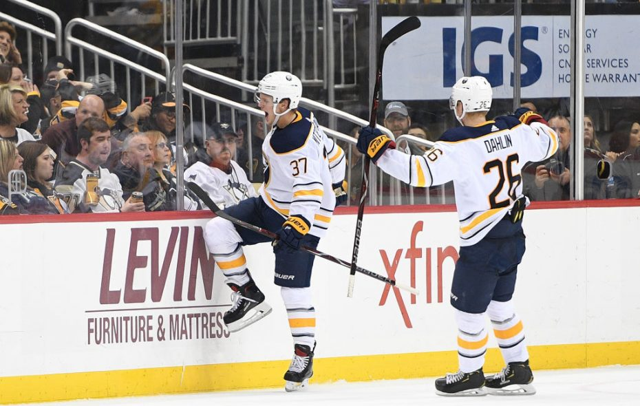 Casey Mittelstad, left, entered Tuesday with four goals in 24 games this season. (Getty Images)