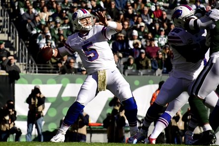 The Buffalo Bills take on the New York Jets at MetLife Stadium in East Rutherford, N.J., on Sunday, Nov. 11, 2018.