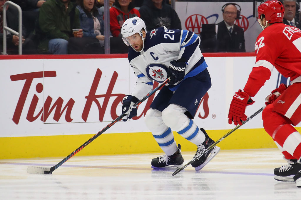Blake Wheeler leads the Jets' top-ranked power play with 13 points. -- (Getty)