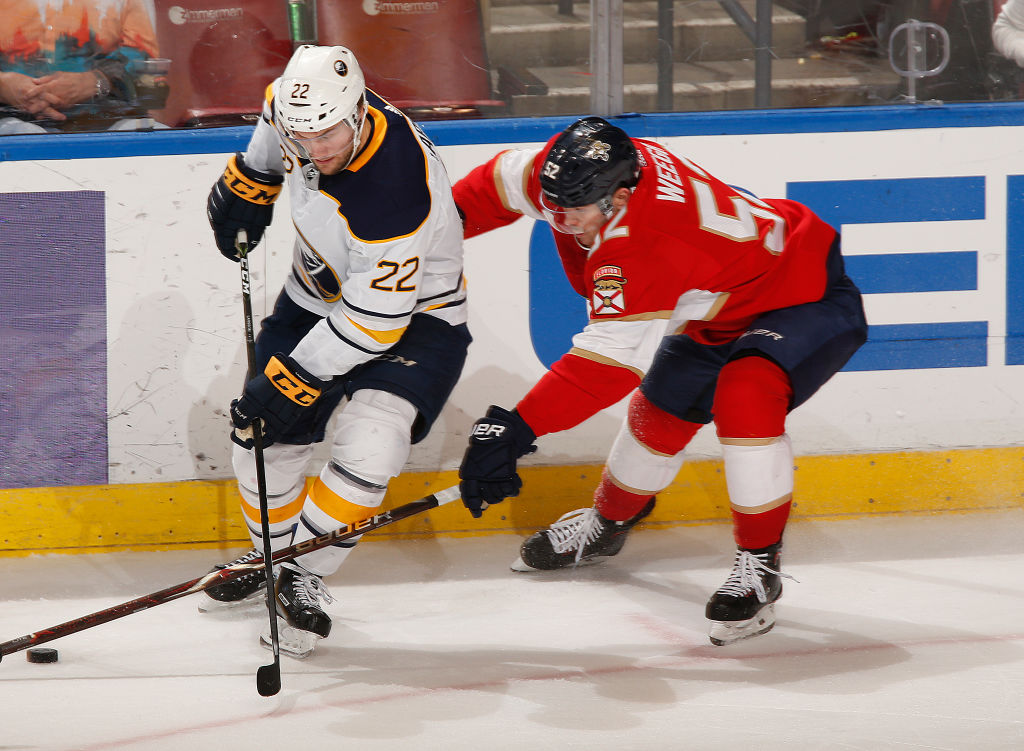 The Panthers defeated the Sabres 3-2 in overtime. (Joel Auerbach/Getty Images)