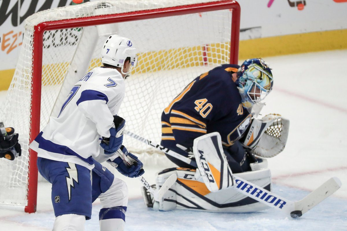 Carter Hutton should return to the lineup this week (James P. McCoy/News file photo)