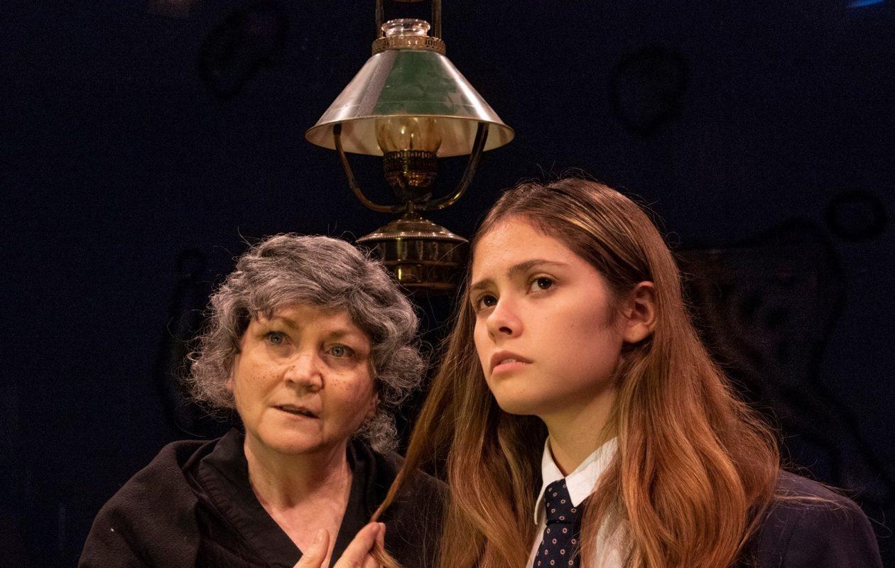 Josephine Hogan as Nanna Glavin and Kiana Duggan-Haas as her granddaughter, Sive, in the Irish Classicl Theatre production of 'Sive.'