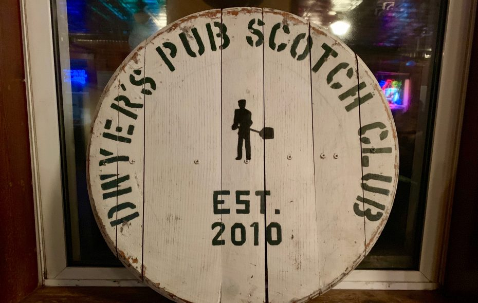 The Dwyer's Pub Scotch Club started in 2010 and meets every Sunday upstairs at Dwyer's Pub.