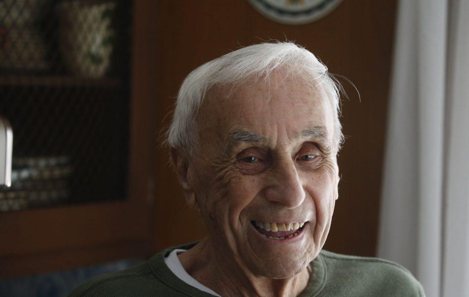 WWII sailor James Kelley at his home in South Buffalo on Thursday, Nov. 29, 2018.  (Robert Kirkham/Buffalo News)