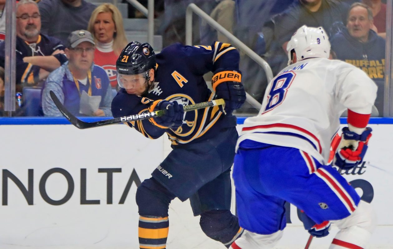 The Sabres were critical of their play during the win streak, Kyle Okposo in particular. (Harry Scull Jr./News file photo)
