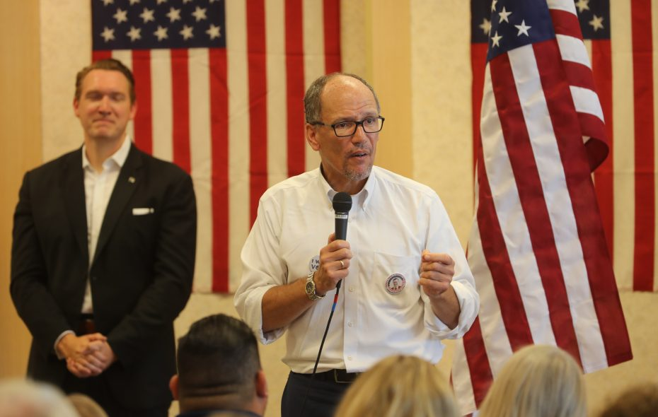 Democratic National Committee Chairman and Buffalo-native Tom Perez, pictured in a September appearance in support of 27th Congressional District candidate Nathan McMurray. (John Hickey/News file photo)