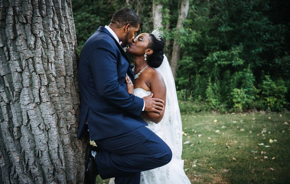 LaShawna and Keith married at their church, Elim Christian Fellowship, then celebrated at Samuel's Grande Manor. (Shawn Caution)
