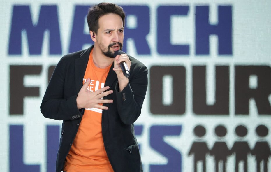 """""""Hamilton' creator Lin-Manuel Miranda performed """"Found/Tonight"""" during the March for Our Lives rally anti-gun protest in Washington, D.C. (Getty Images)"""
