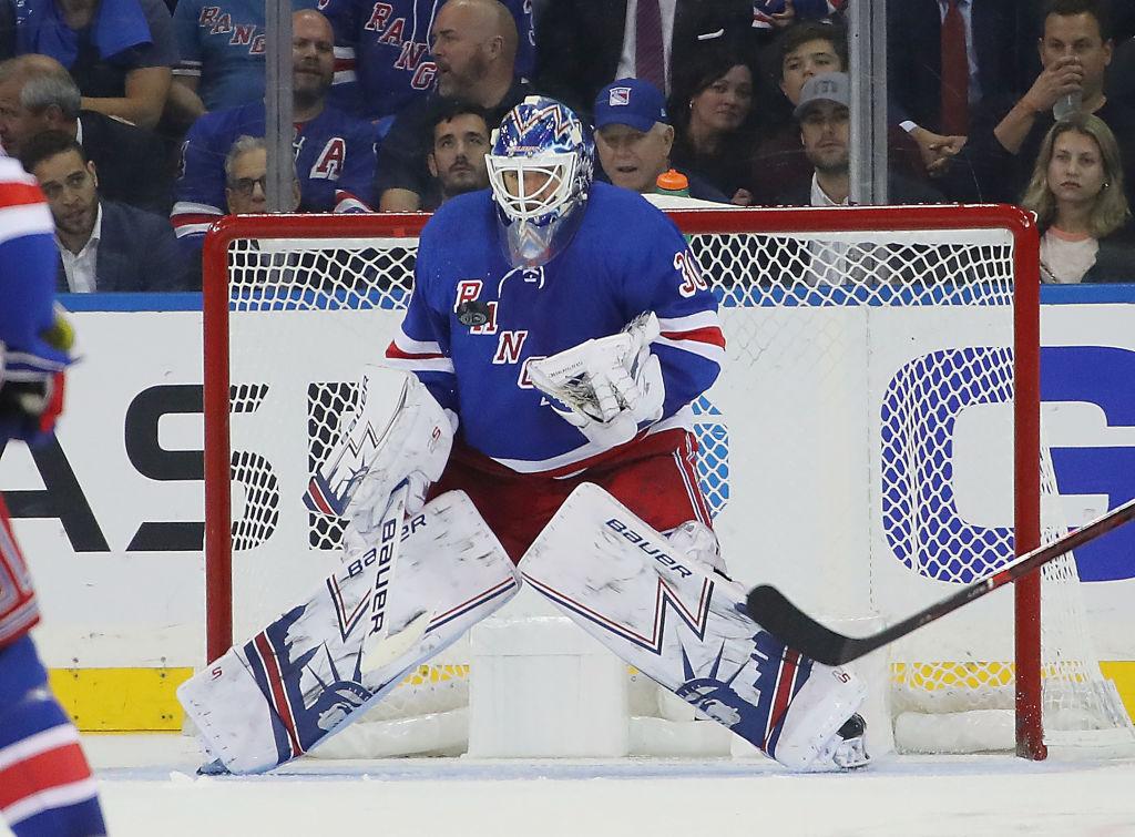 Rangers goalie Henrik Lundqvist kept the Sabres at bay Sunday night (Getty Images).