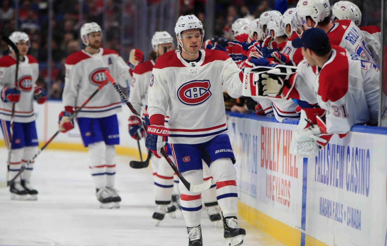 53717c9f20c Canadiens winger Max Domi (13) earned the plaudits of his teammates for  scoring twice