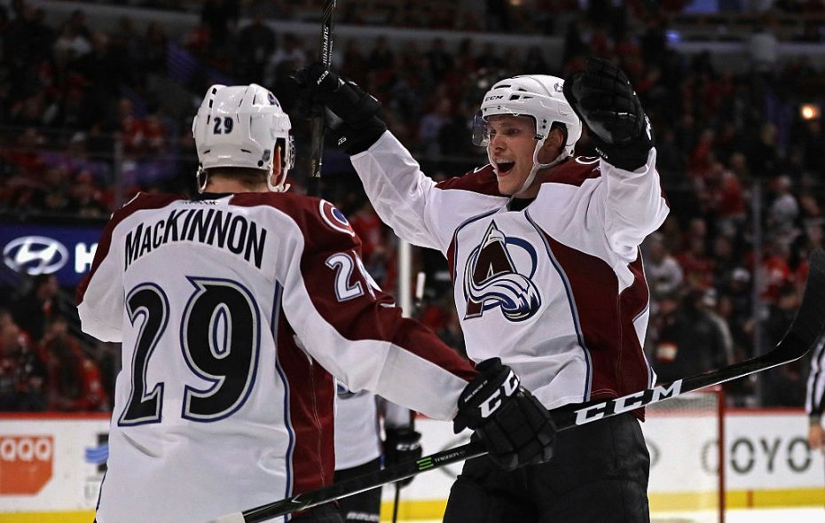 Avalanche stars Nathan MacKinnon (29) and Mikko Rantanen, right, have been piling up the points (Getty Images).
