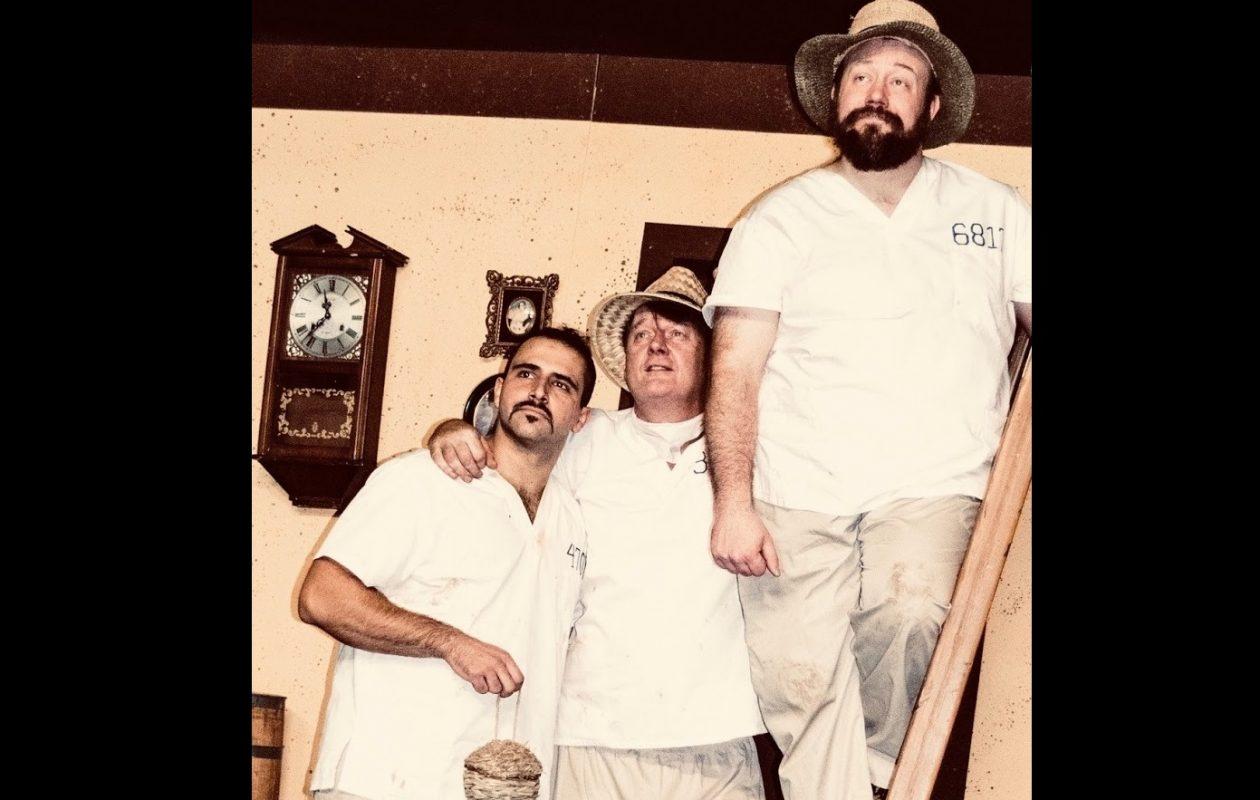 Brett Klaczyk, left, Richard Lambert and Elliot Fox are the three angels in 'My Three Angels' by New Phoenix Theatre.