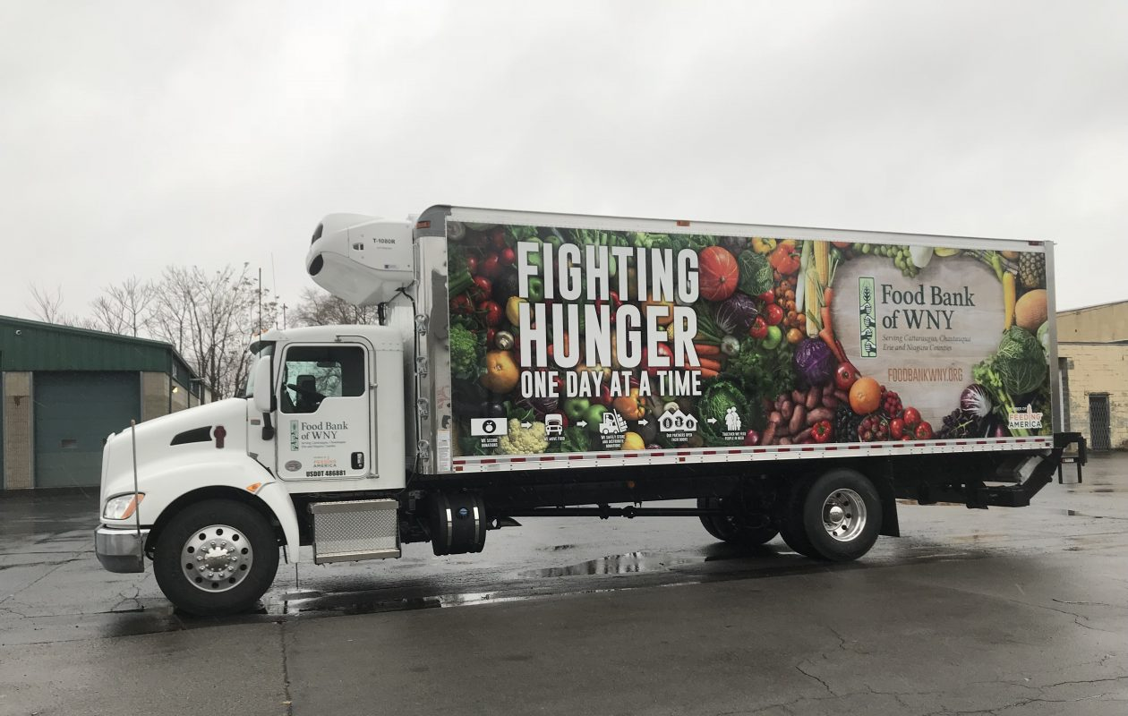 The Food Bank of Western New York's new Niagara County delivery truck, unveiled Nov. 27, 2018. (Contributed photo)