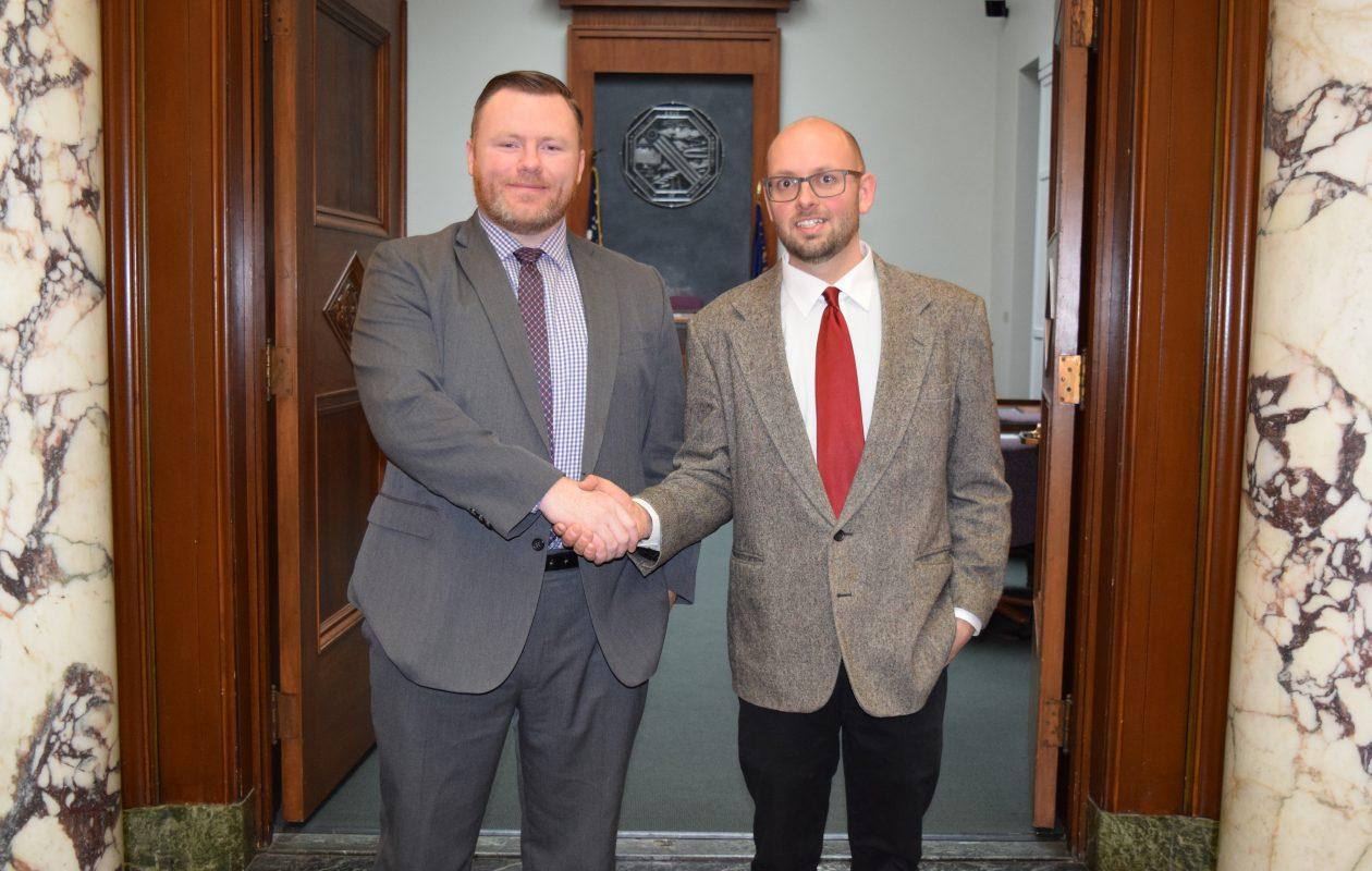 Legislator Patrick Burke endorses Cheektowaga Deputy Supervisor Brian Nowak for his seat as Burke moves onto the Assembly. (Photo courtesy of Patrick Burke)