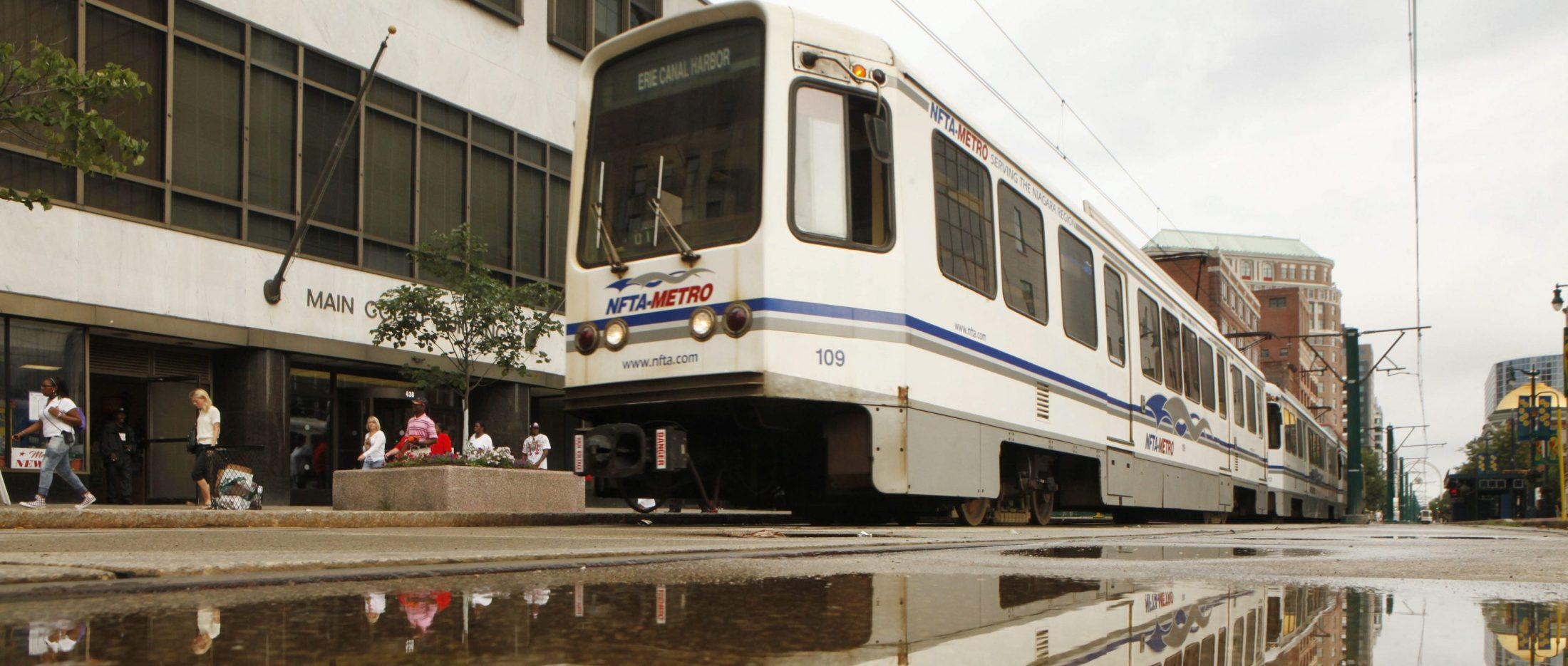 A new plan would extend Metro Rail to the University at Buffalo's North Campus and beyond via Niagara Falls Boulevard instead of Bailey Avenue. (Derek Gee/News file photo)