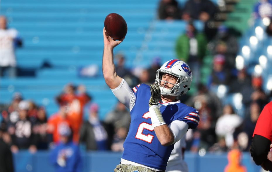 Quarterback Nathan Peterman is headed to Los Angeles. (James P. McCoy/Buffalo News)