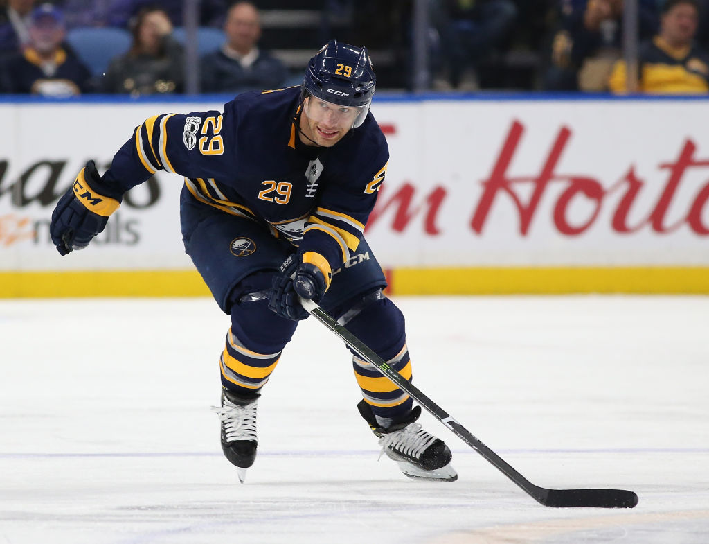 Jason Pominville scored during the 1,000th game of his NHL career (Getty Images file photo).