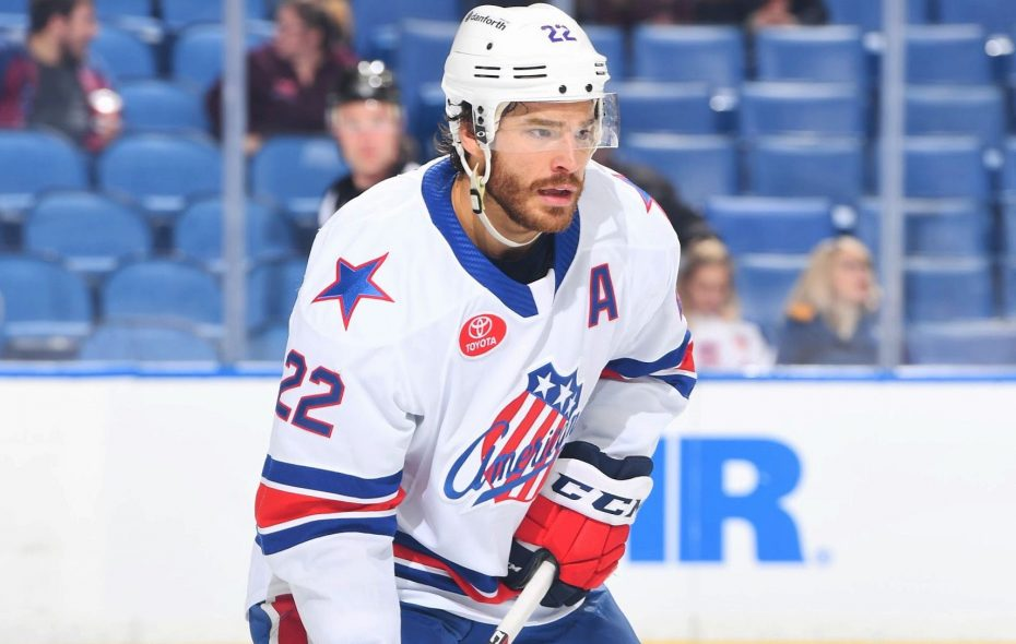 Zach Redmond is headed to the AHL All-Star Classic. (Photo courtesy of the Rochester Americans)
