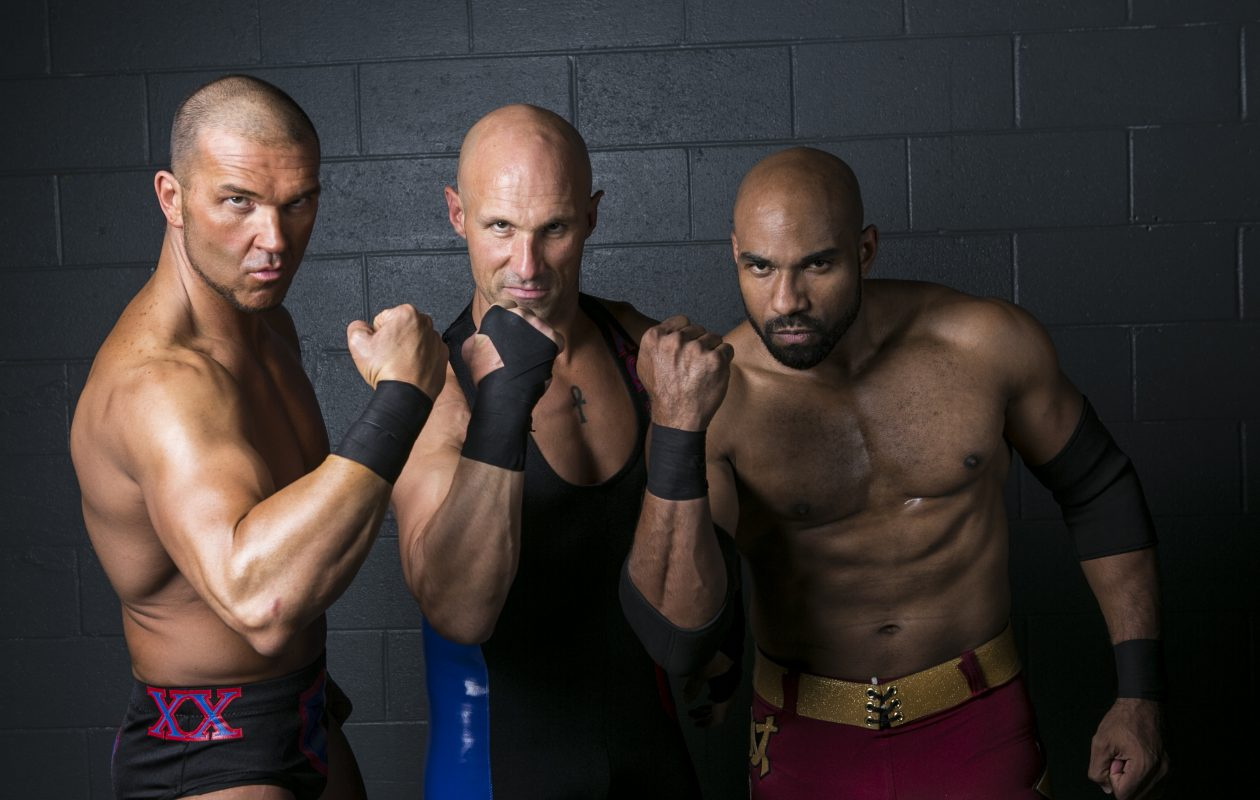 SoCal Uncensored - Frankie Kazarian, left, Christopher Daniels and Scorpio Sky - will be at Buffalo RiverWorks as part of a Ring of Honor event. (Photo: Ring of Honor/James Musselwhite)