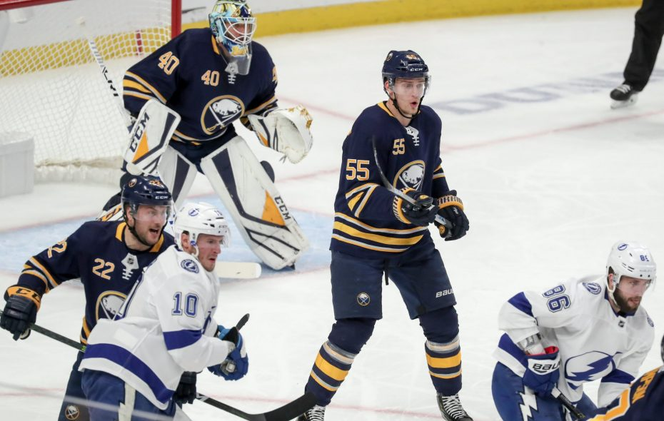 the reality is Buffalo still struggles (in some cases, rather emphatically) with Ristolainen on the ice, Travis Yost says.(James McCoy/News file photo)