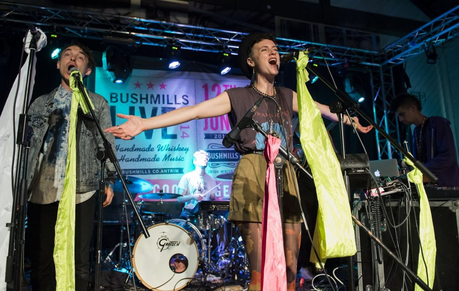 Annakalmia Traver of Rubblebucket. The band plays Asbury Hall at Babeville on Dec. 5.  (Photo by Carrie Davenport/Getty Images)