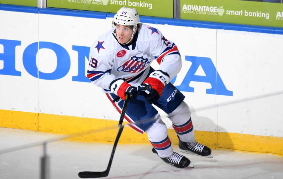 C.J. Smith has scored five goals and nine points in 12 games for the Amerks. (Micheline Veluvolu/Rochester Americans)