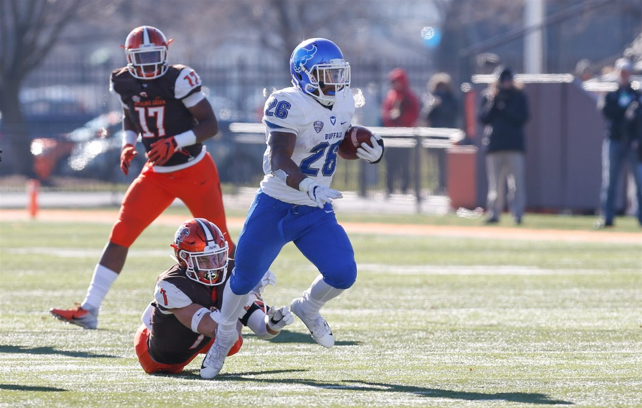 UB running back Jaret Patterson ran for two touchdowns Nov. 23 at Bowling Green. (Scott W. Grau/Special to The News)