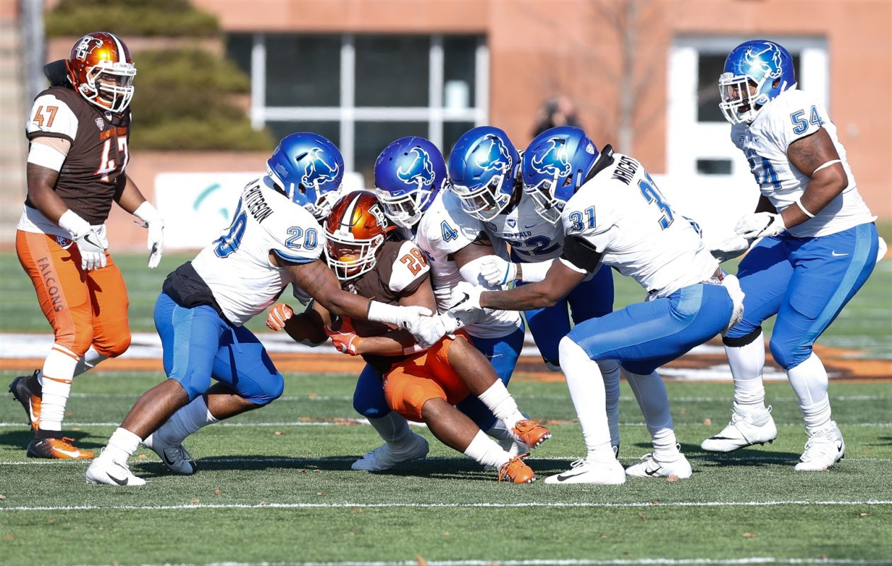 The UB football team is expected to add at least four players in the second signing period, which begins Wednesday and runs through April 1. (Scott W. Grau/Special to The News)