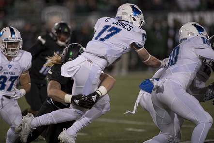In a high-profile matchup Wednesday night, the UB Bulls took on the Ohio University Bobcats. It didn't go well.
