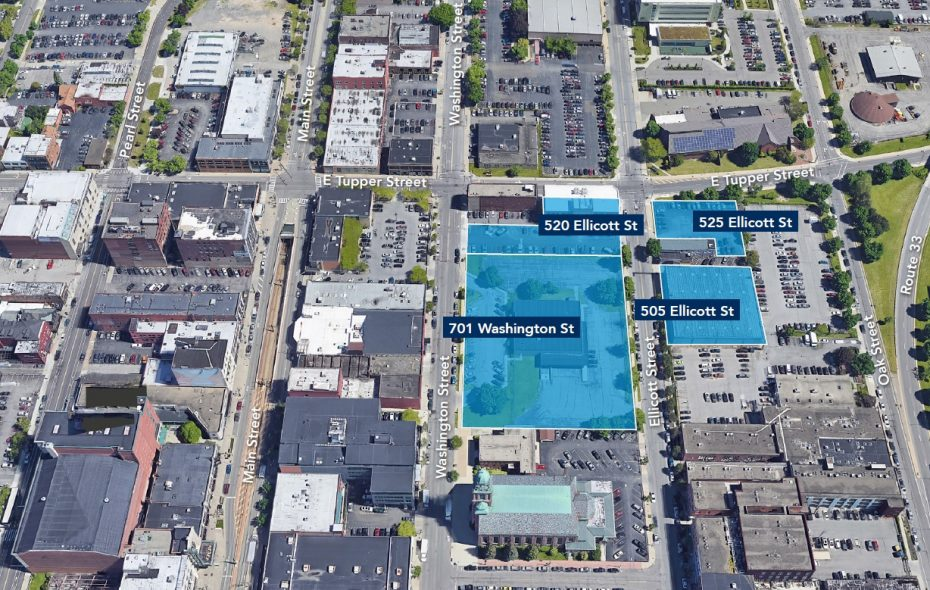 Uniland Development Co. added the old Ellicott Station post office property at 701 Washington St. to its campus that already includes three properties on nearby Ellicott Street.