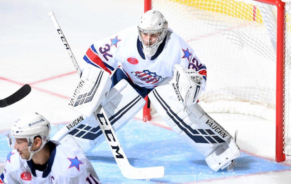 Amerks goalie Adam Wilcox. (Micheline Veluvolu/Rochester Americans)